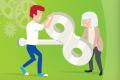 Sujet der Kampagne Gesunde Arbeitsplätze - für jedes Alter